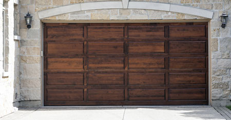 Wood garage door danbury